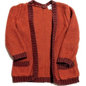 Old Navy Heavy Knit Sweater Open Cardigan 4T